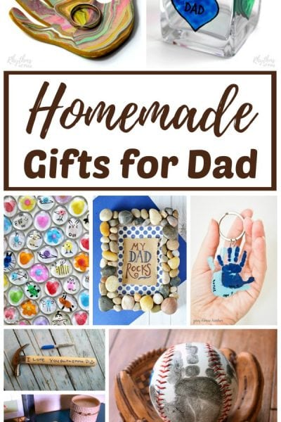 Homemade gifts for dad and grandpa kids can make.