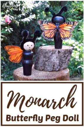 monarch butterfly craft and diy toy dolls for kids