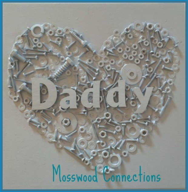 Recycled nuts and bolts Daddy Heart