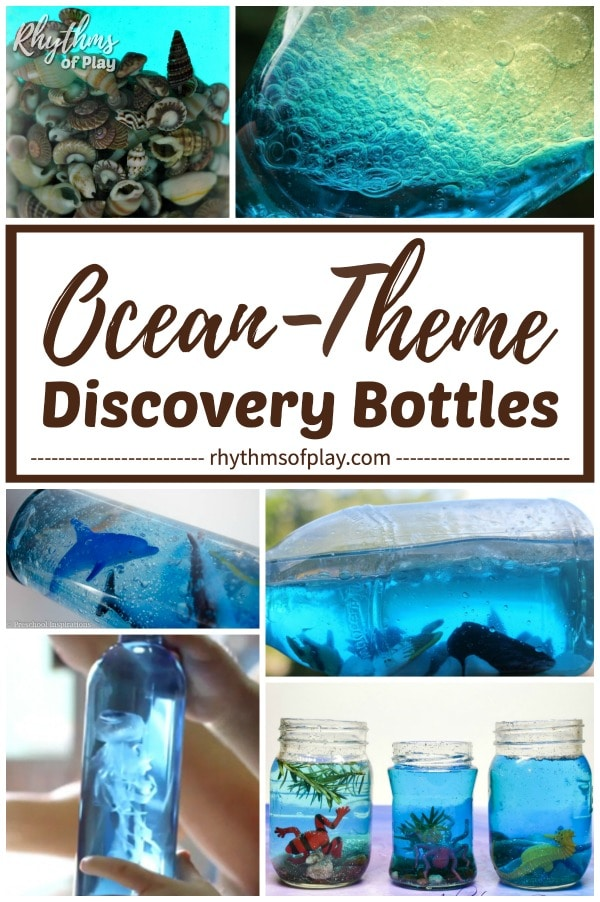 Ocean theme discovery and sensory DIY calm down jars