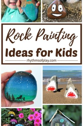 painted rocks and rock painting ideas for kids and adults