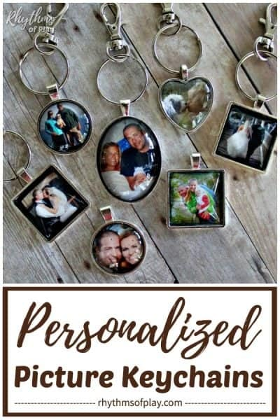 personalized photo keychain charms personalized picture keychains diy
