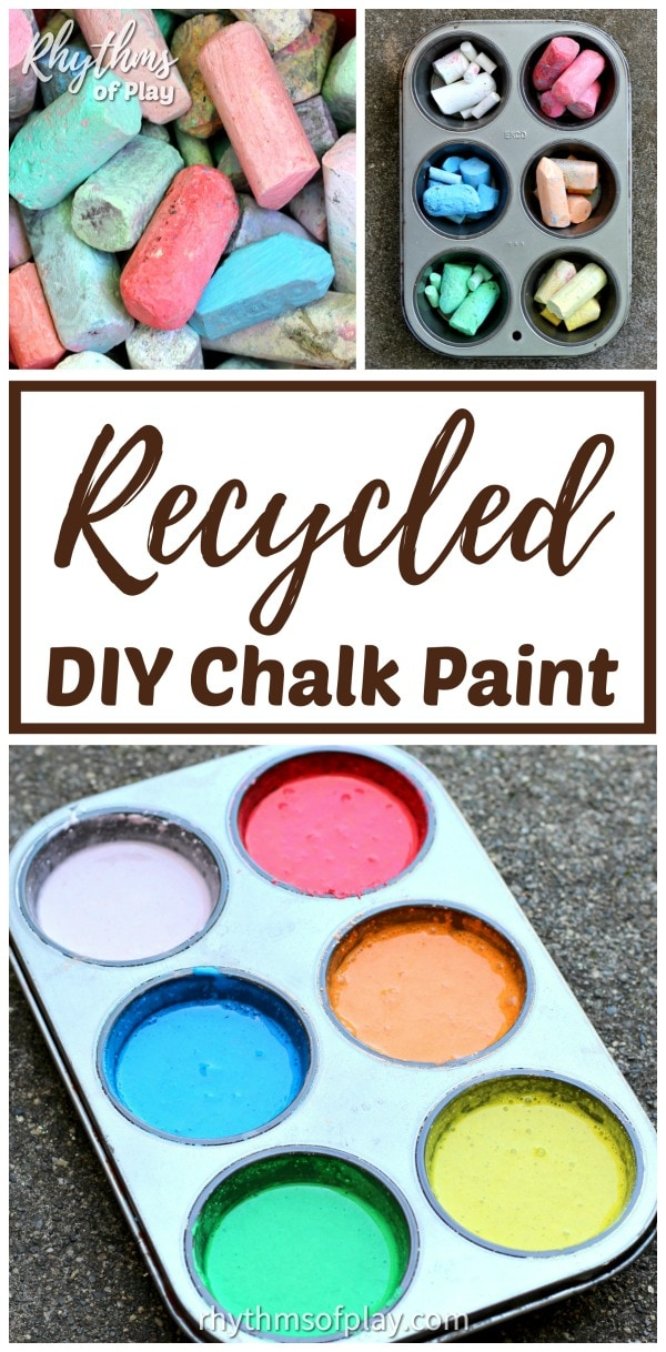 DIY chalk paint recipe for outdoor art