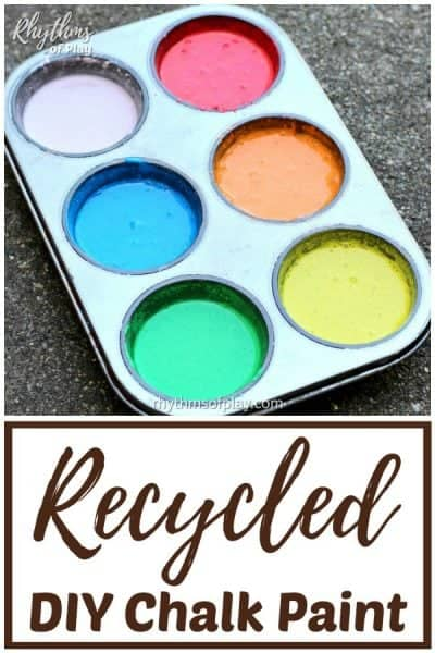 recycled diy chalk paint recipe for outdoor art projects