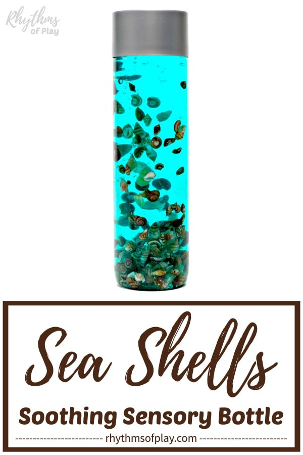 seashell calming sea shells diy sensory bottle made with shells