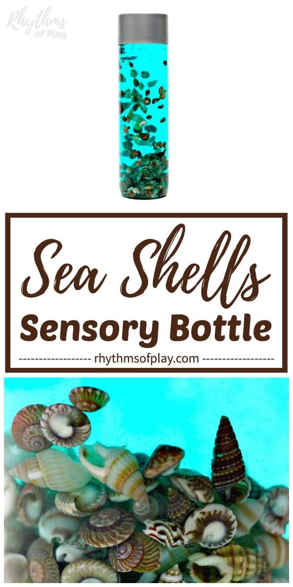 seashell soothing sea shells sensory bottle calm down jar