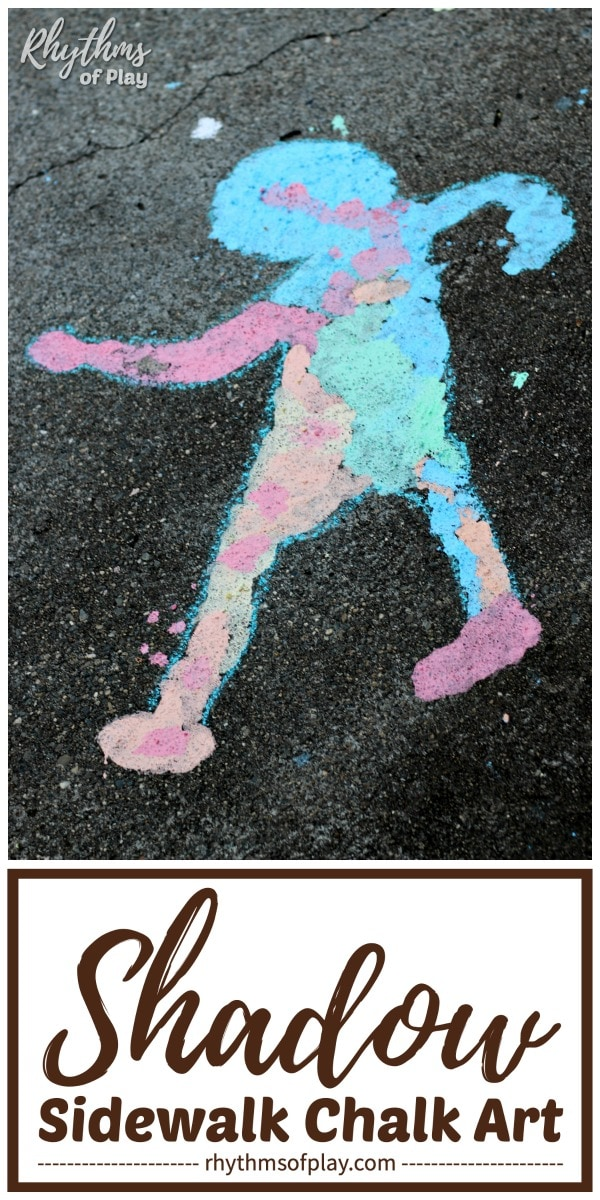 shadow sidewalk chalk art ideas