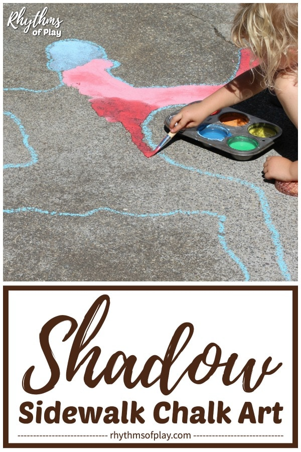 shadow sidewalk art outdoor science activity
