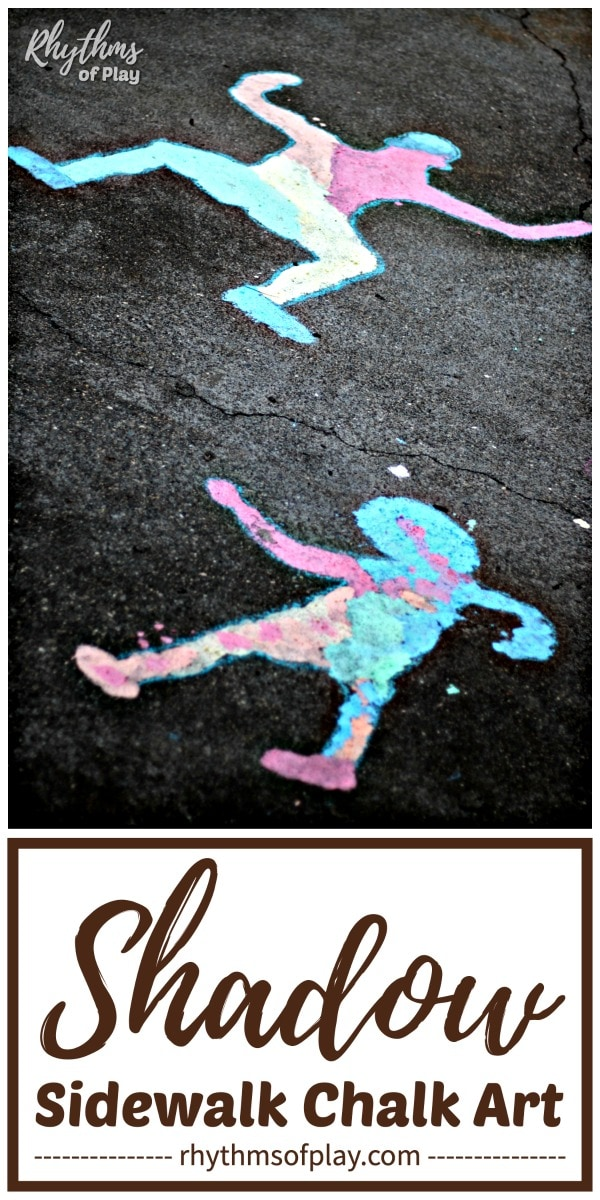 sidewalk chalk art - shadow science activity