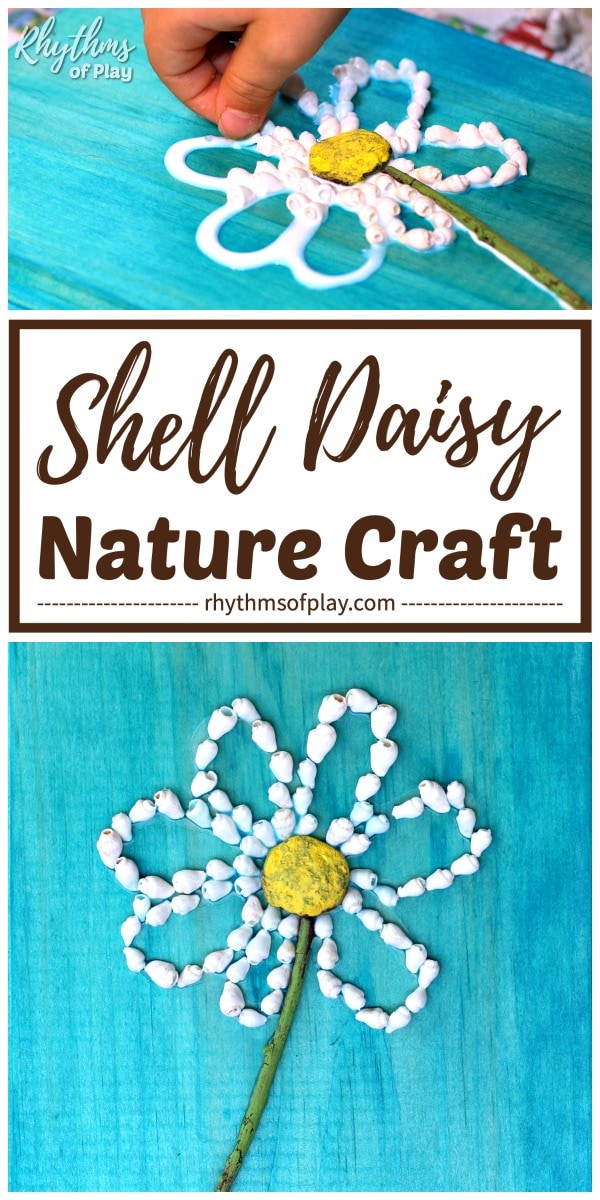 how to make daisy flower shell crafts