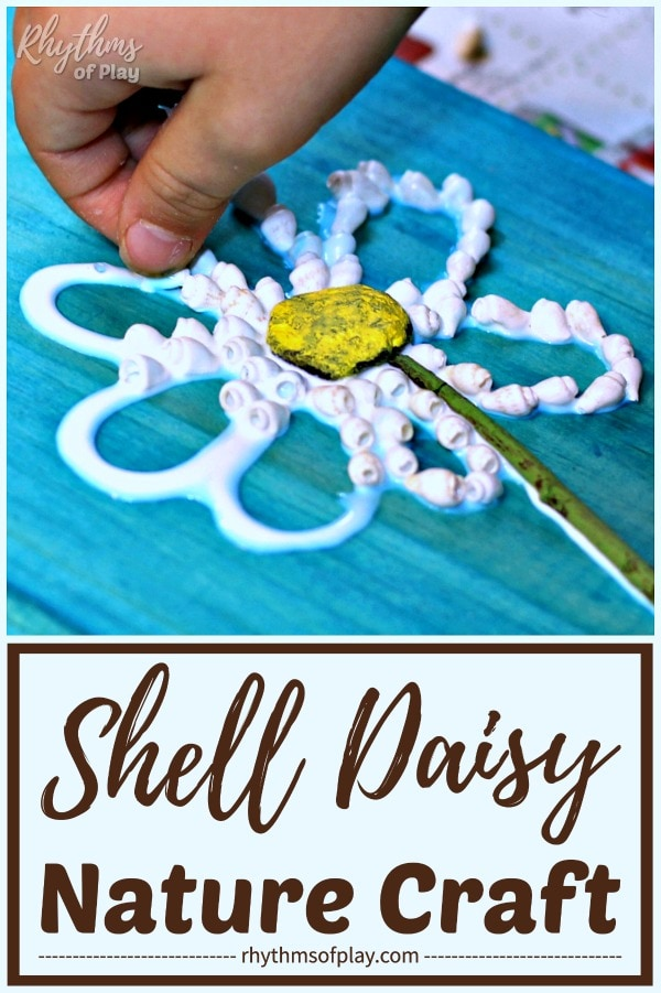 daisy shell crafts for kids and adults