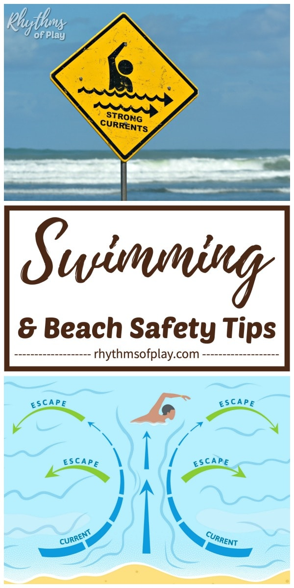 beach and water safety tips for parents - how to get out of a rip current