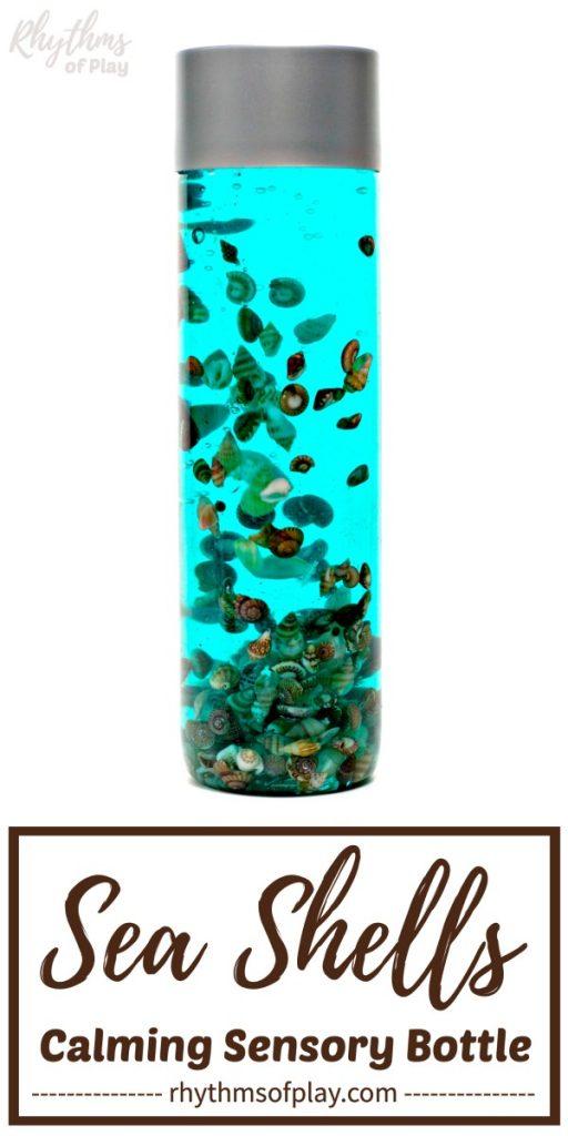 seashell soothing sea shells diy sensory bottle made with shells