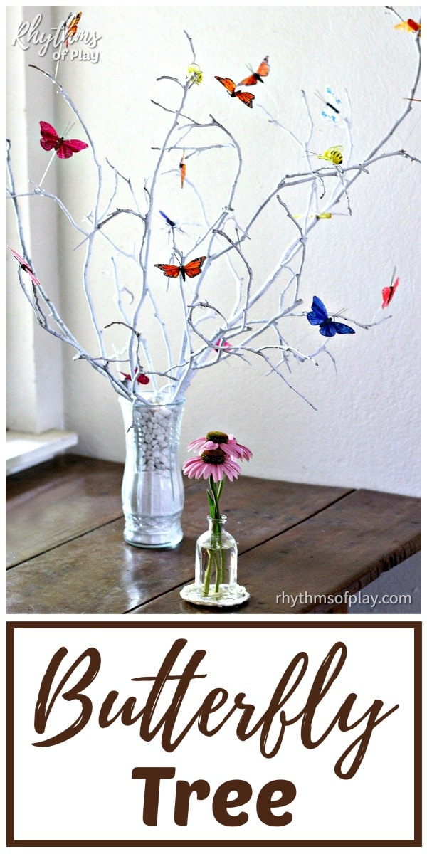 butterfly tree - tree craft full of craft butterflies