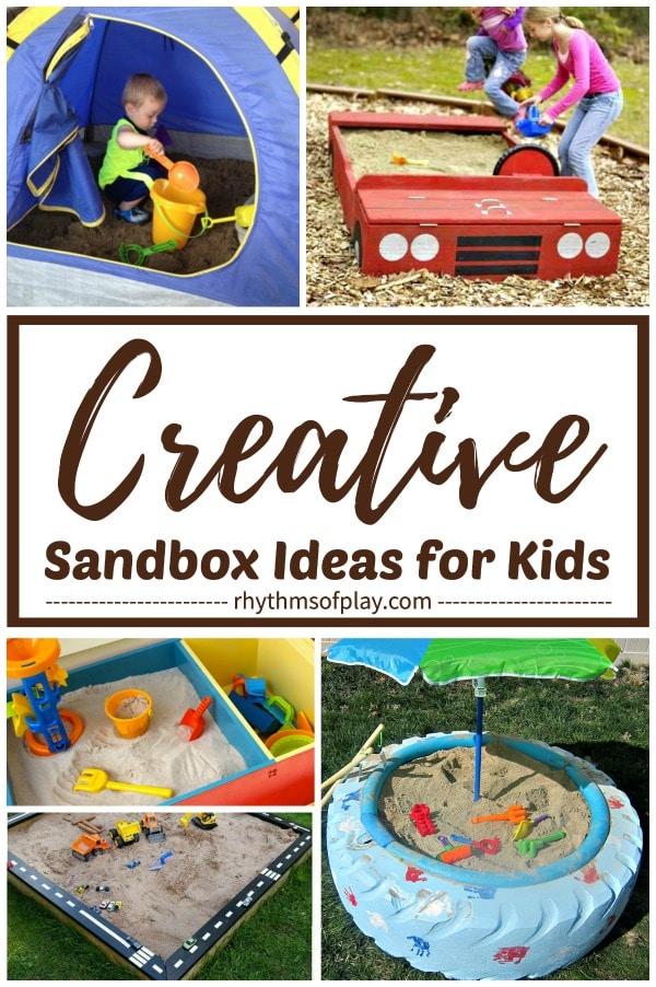 creative sandbox ideas for your backyard or patio!