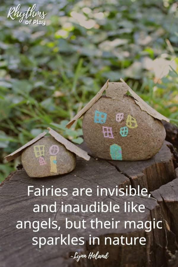 "fairy garden houses - ""Fairies are invisible, and inaudible like angels, but their magic sparkles in nature."""