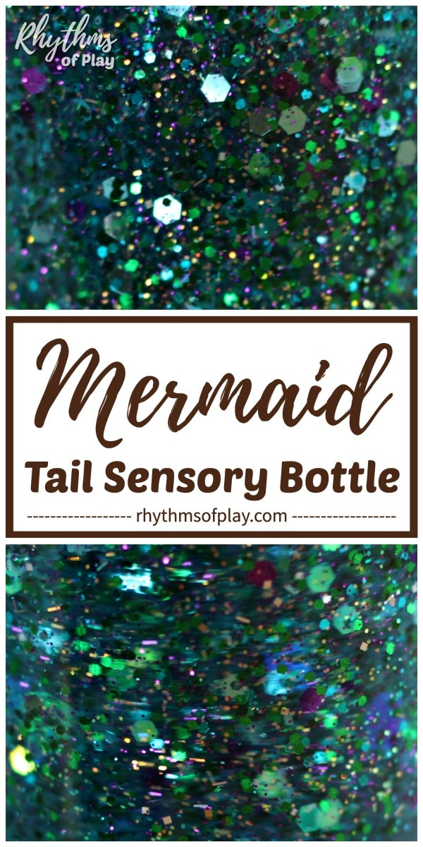 Mermaid Tail Glitter Sensory Bottle | Rhythms of Play