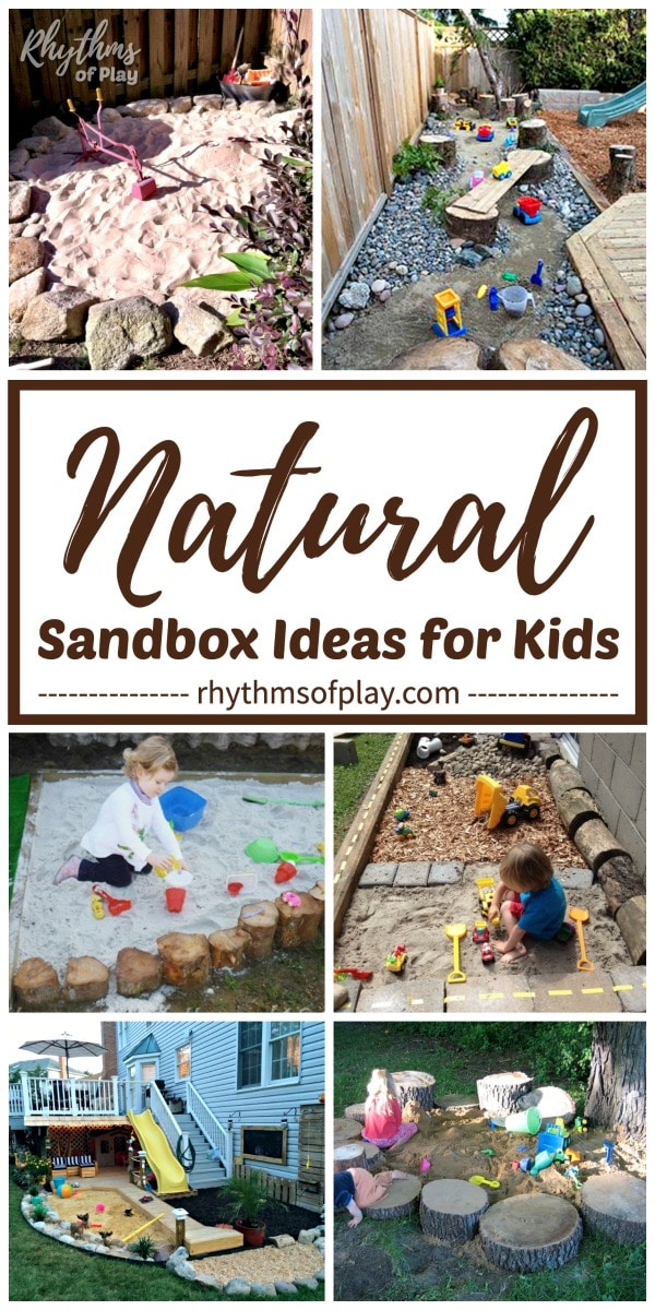 natural sandbox and sandpit landscaping ideas for your backyard play area