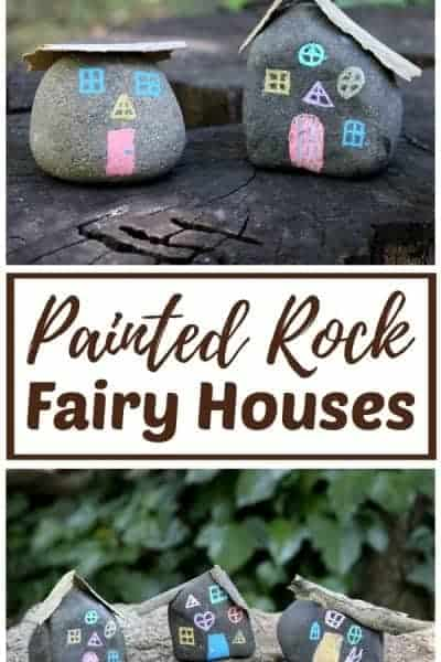 painted rock fairy houses craft - cutest fairy houses ever!