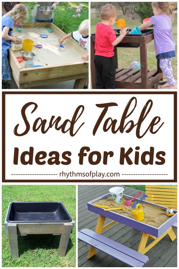 easy sand table ideas for kids DIY and buy
