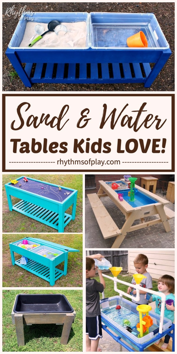 sand and water tables that children will love!