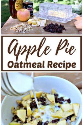 Apple pie oatmeal recipe.