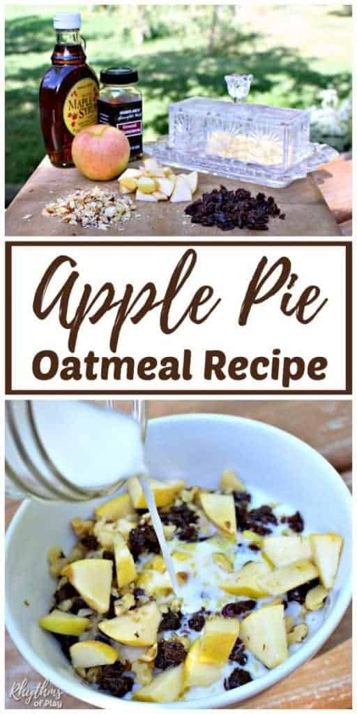 Apple pie oatmeal recipe.