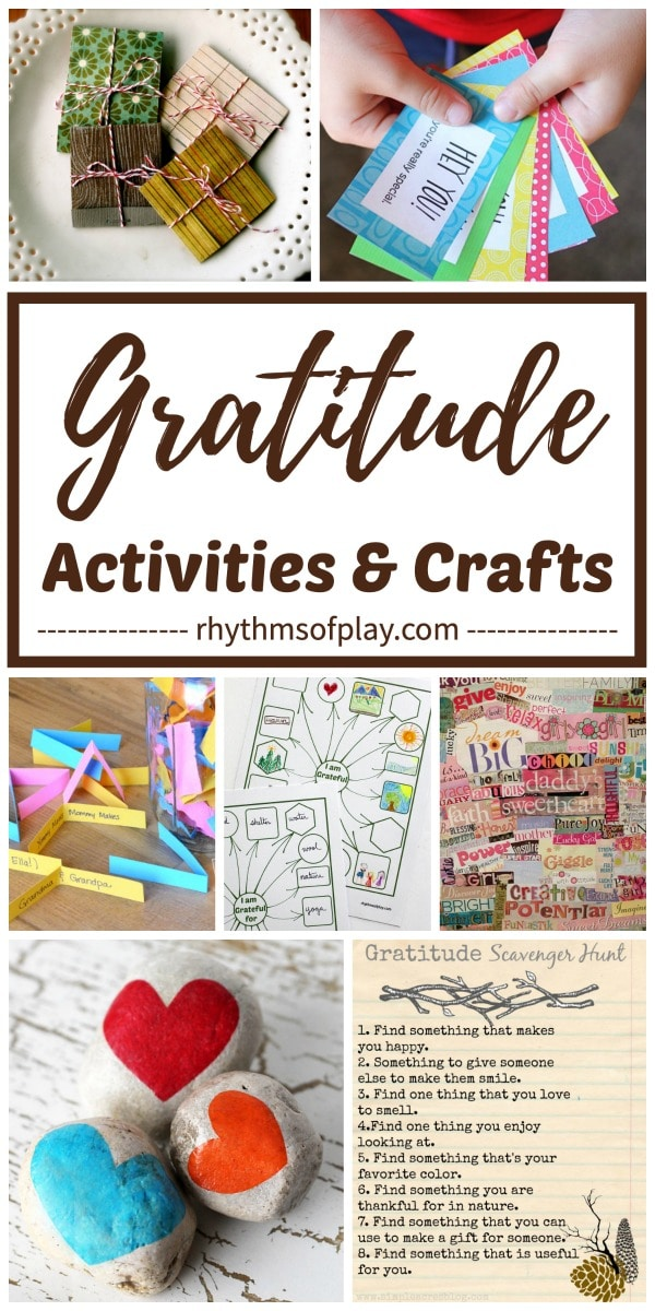 Gratitude activities, gratitude crafts and gratitude games for kids