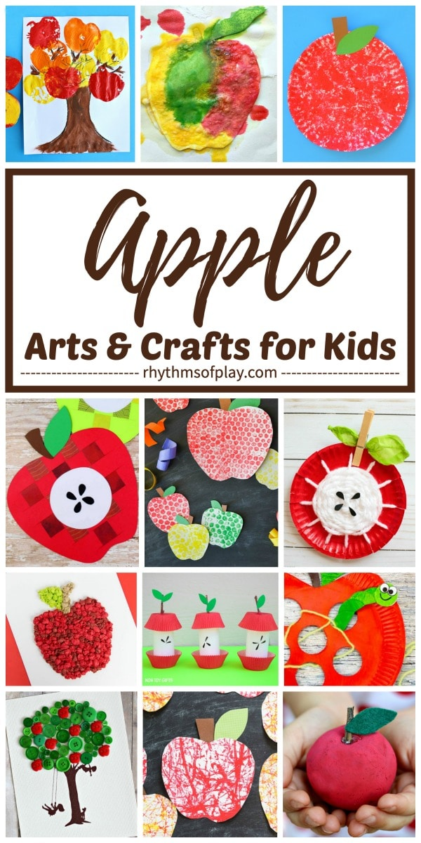 apple art projects and craft ideas for kids