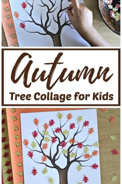 Easy Autumn Tree Collage for Kids