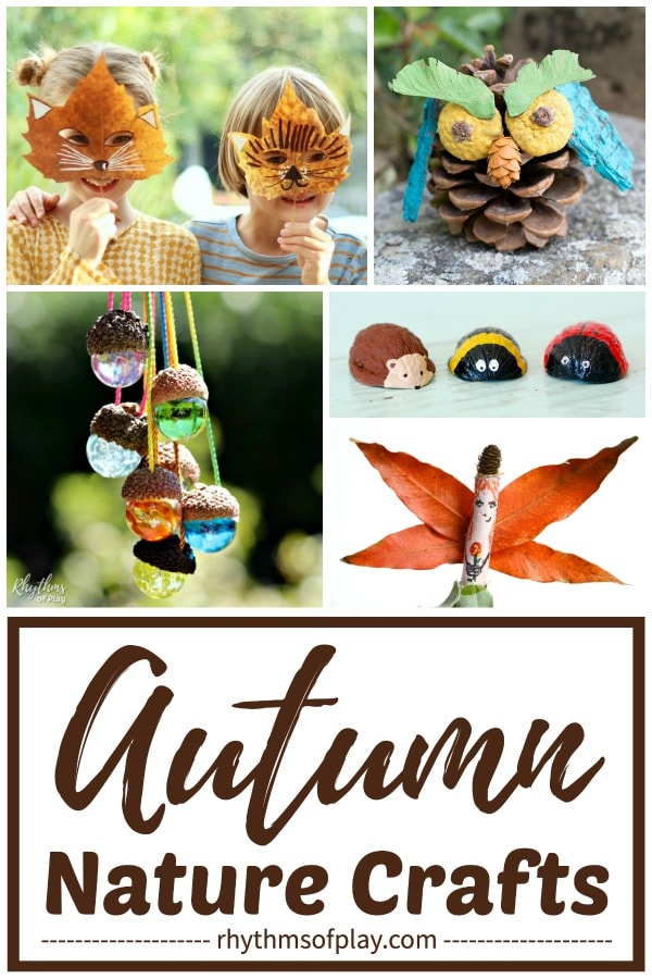 best fall nature crafts - autumn craft ideas for kids and adults