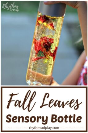 Fall leaves sensory bottle diy