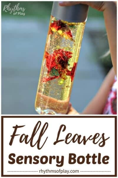 Fall leaves sensory bottle diy