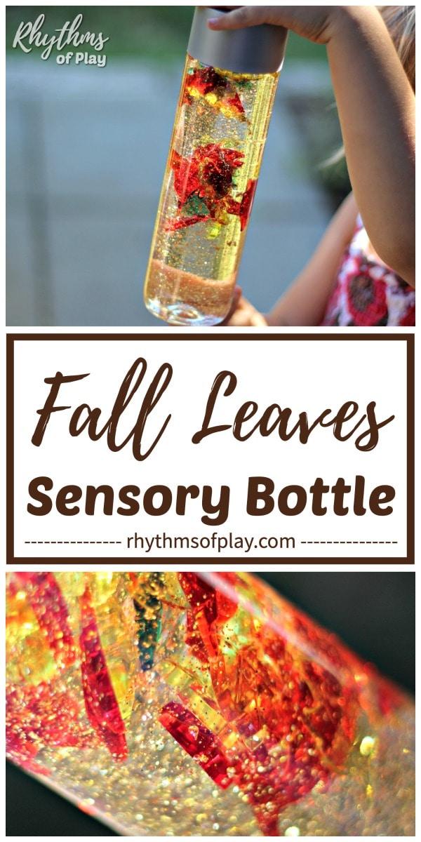 fall leaves sensory bottle calm down jar