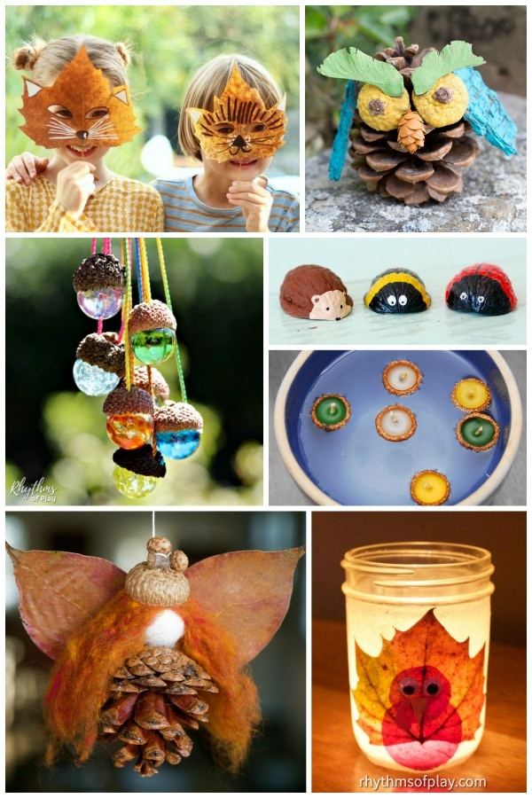 fall nature crafts - craft ideas made with natural materials