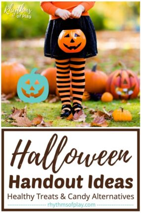 Halloween treat ideas: healthy treats and non-candy alternatives for Halloween (teal pumpkin project)