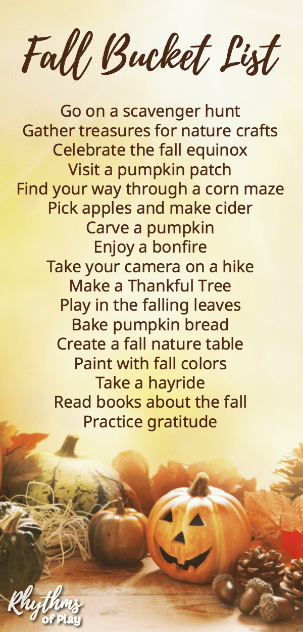 Fall bucket list family activity guide for the best autumn ever!