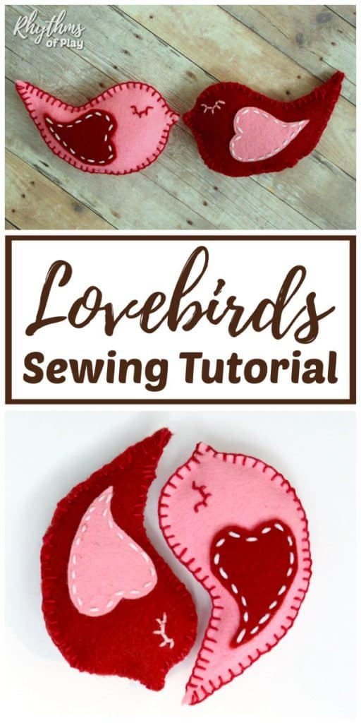lovebird felt softie beginning sewing tutorial