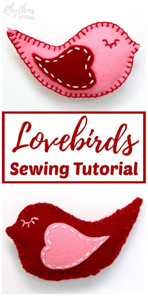 felt lovebirds sewing tutorial