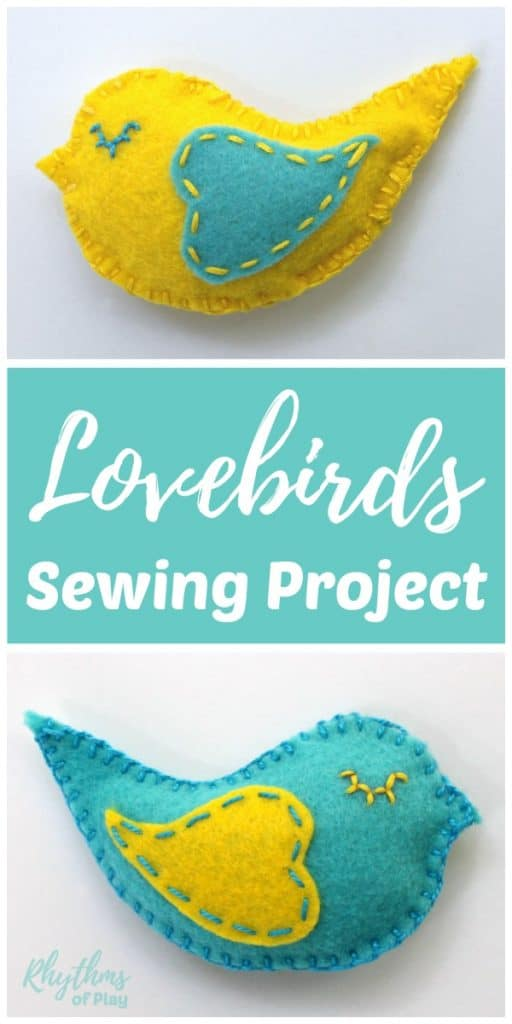 how to sew a lovebird softie