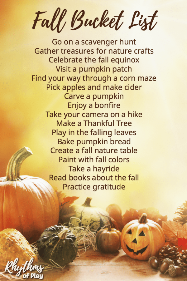 Fall bucket list family guide for the best autumn ever!