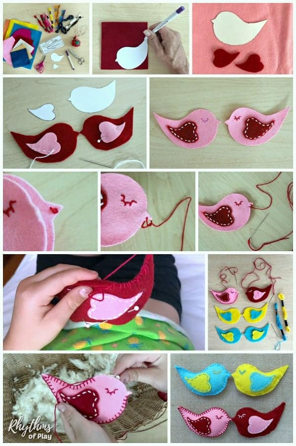 how to sew a lovebird softie step by step photo tutorial