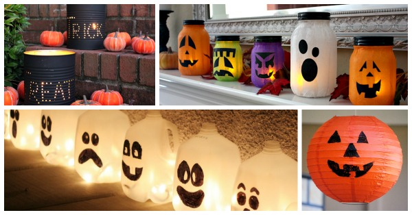 Halloween lantern ideas and DIY Halloween luminaries