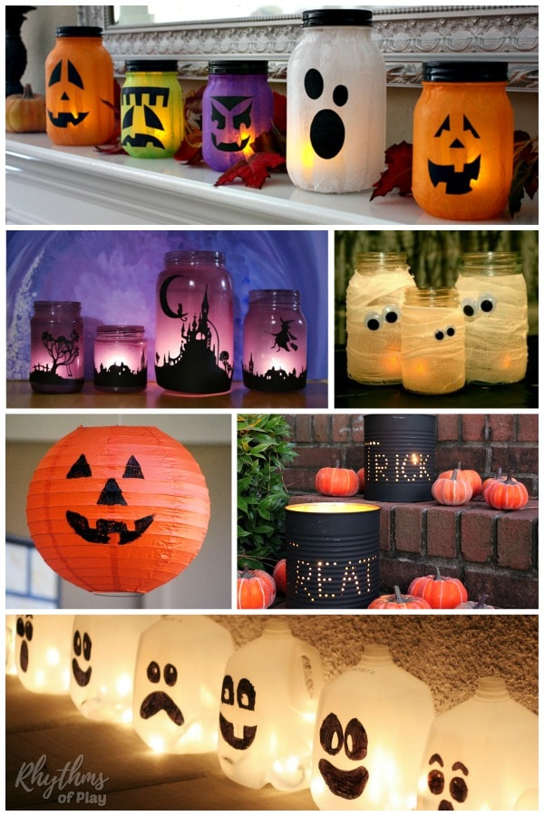 Halloween lanterns DIY Halloween Decor