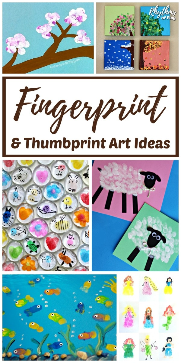 Fingerprint art and craft ideas for kids of all ages.