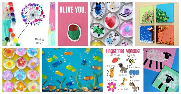 fingerprint art ideas and craft projects for kids.