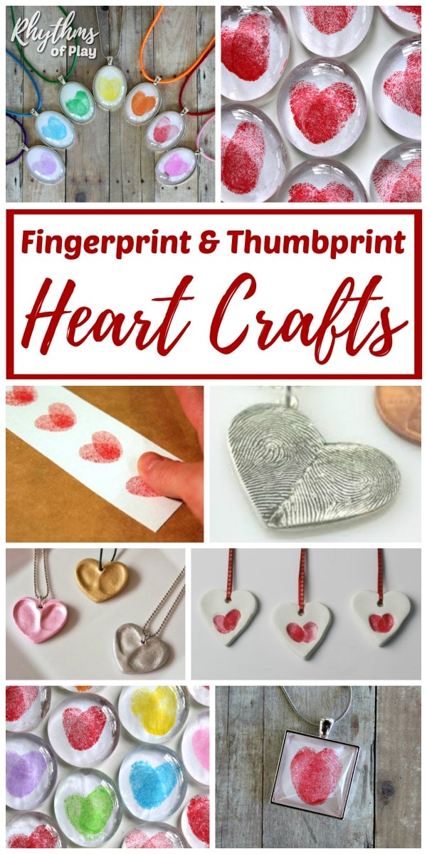 Thumbprint craft and gift ideas