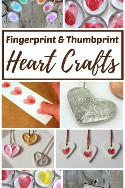 Thumbprint and fingerprint crafts and gift ideas.