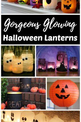 Halloween Decor DIY lanterns and luminaries
