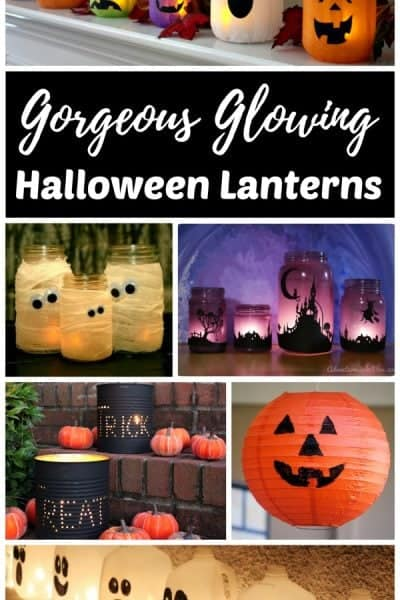 Gorgeous Glowing DIY Halloween Lanterns